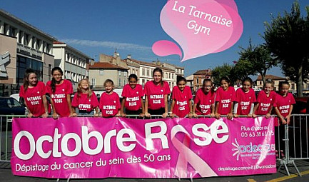 OCTOBRE ROSE - La TARNAISE DE LAVAUR & la GYMNASTIQUE s'engagent contre le cancer